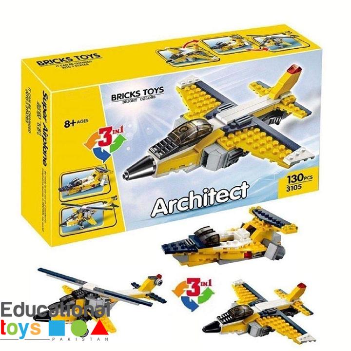Architect Super Airplane 3-in-1 130 Pcs – 3105