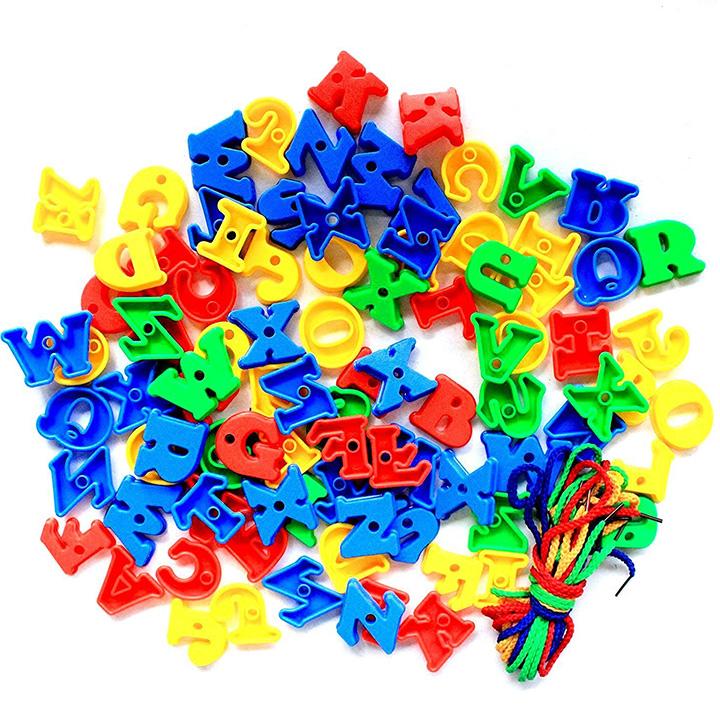 Capital Alphabets Lacing Blocks