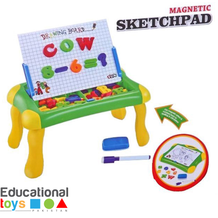 Magnetic Learning Drawing/Sketchpad Board