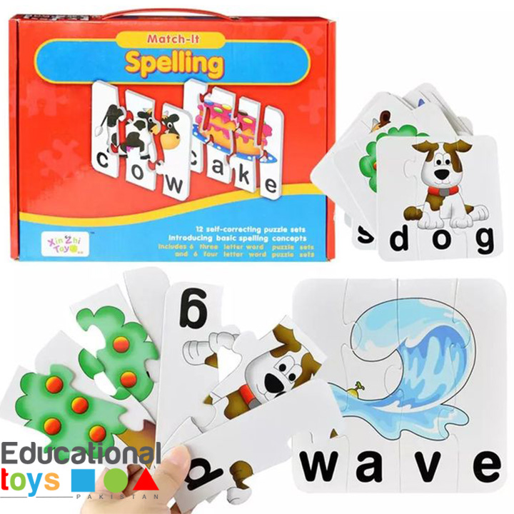 Match-It Spelling  – 12 Puzzles Box