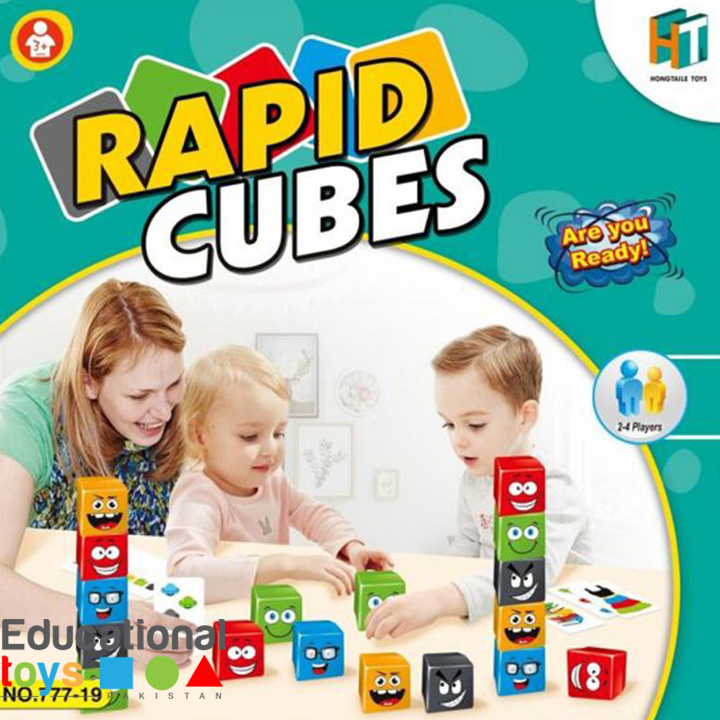 Rapid Cubes – Multi Player Board Game for Kids