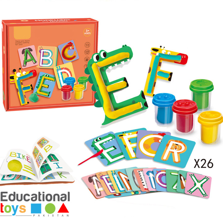 Play Dough with Letter Cards (A to Z)