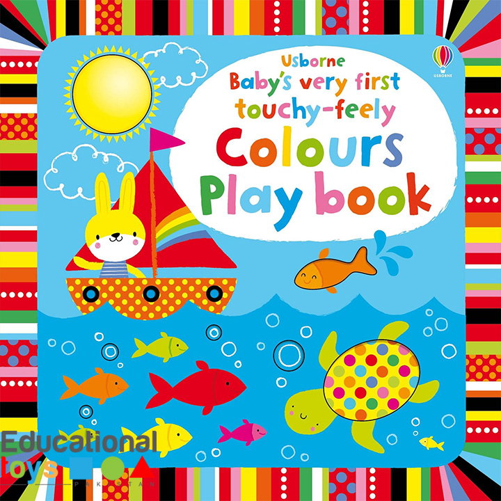 Usborne Baby's Very First Touchy-Feely Colours Play book