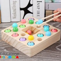 3 in 1 Wooden Magnetic Fishing Game