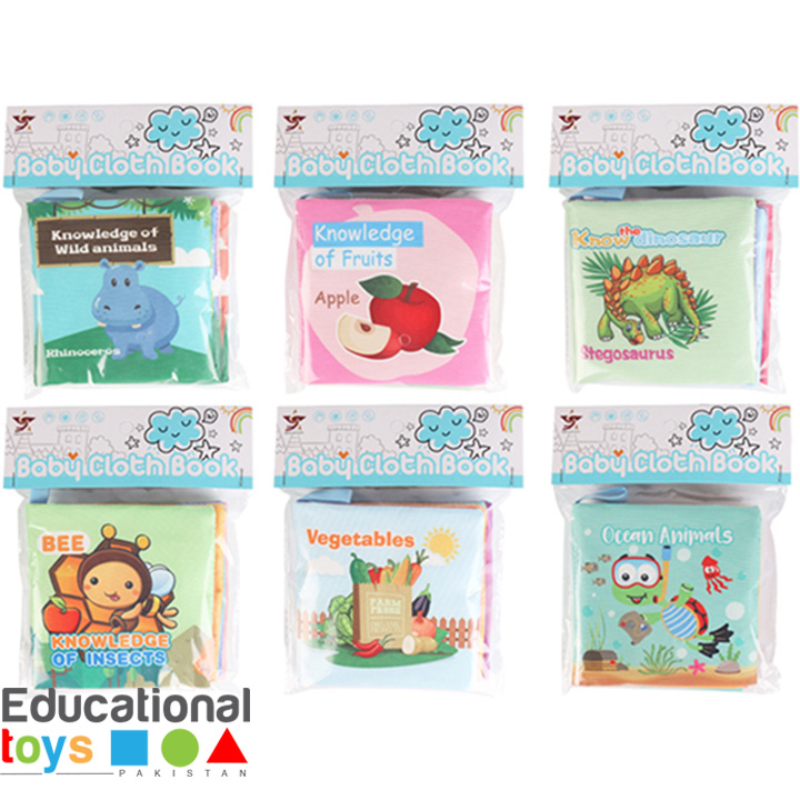 Crinkle Cloth Books for Babies (Any One)