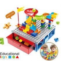 Marble Run Building Blocks with Storage Box - 58 pieces