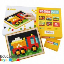 Wooden Pixel Mosaic Puzzle - Cars
