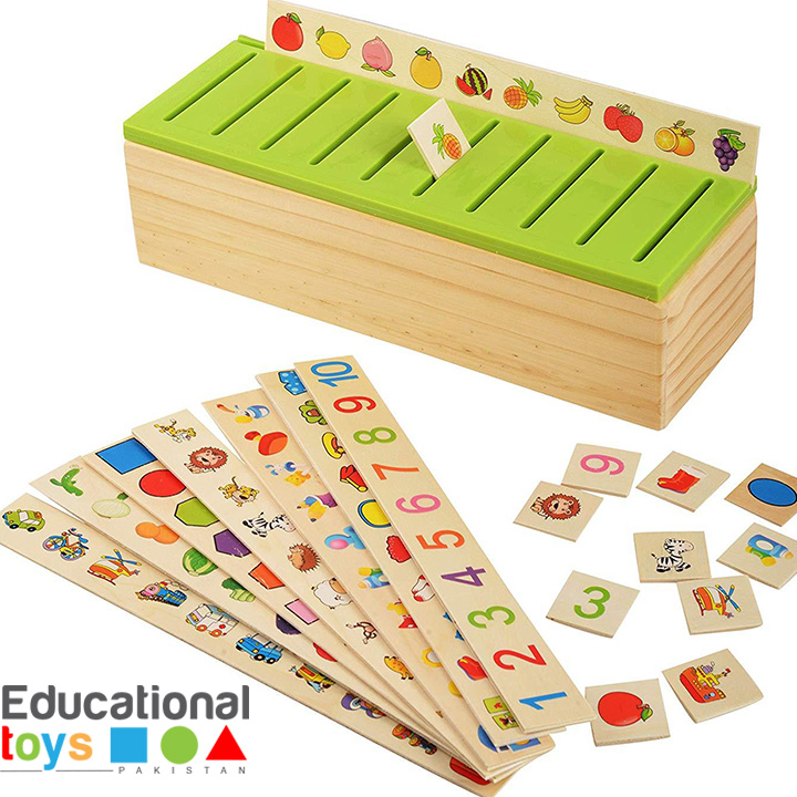 Wooden Knowledge Classification Box