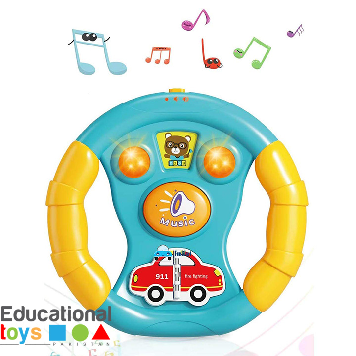 Musical Car Steering Wheel Toy for Toddlers