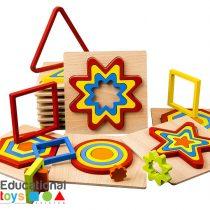 Wooden Geometric Shape Puzzle