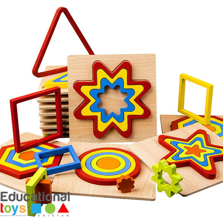 Wooden 3D Geometric Shape Puzzle (Any One)