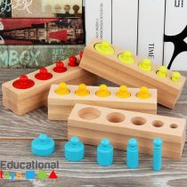 Wooden Montessori Knobbed Cylinders