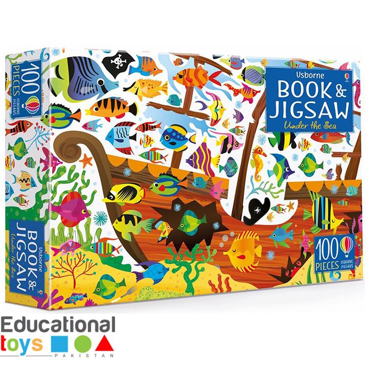 Usborne Under The Sea Book & Jigsaw Puzzle