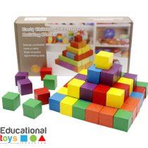 Wooden Building Blocks - 100 Pcs